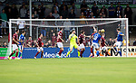 Arbroath v St Johnstone…15.08.21  Gayfield Park      Premier Sports Cup<br />Jamie McCart scores to make it 2-2<br />Picture by Graeme Hart.<br />Copyright Perthshire Picture Agency<br />Tel: 01738 623350  Mobile: 07990 594431