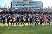 Stanford, CA - Saturday June 30, 2018: San Jose Earthquakes, Pre-game prior to a Major League Soccer (MLS) match between the San Jose Earthquakes and the LA Galaxy at Stanford Stadium.