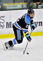2 December 2011: University of Maine Black Bear defenseman Mike Cornell, a Junior from Franklin, MA, in action against the University of Vermont Catamounts at Gutterson Fieldhouse in Burlington, Vermont. The Catamounts fell to the Black Bears 6-4 in the first game of their 2-game Hockey East weekend series. Mandatory Credit: Ed Wolfstein Photo