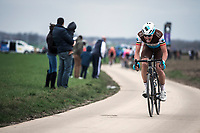 Oliver Naesen (BEL/AG2R La Mondiale)<br /> <br /> 74th Omloop Het Nieuwsblad 2019 (BEL)<br /> Gent – Ninove: 200km<br /> ©kramon