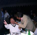 FEDELE CONFALONIERI CON EMILIO FEDE<br /> FESTA PER I 60 ANNI DI MAURIZIO COSTANZO<br /> MANEGGIO DI GIANNELLA  1998