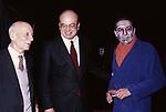 GIANCARLO PAJETTA CON BETTINO CRAXI E VITTORIO GASSMAN - TEATRO QUIRINO ROMA 1984