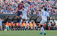 Cleveland, OH - Saturday July 15, 2017: Chris Pontius, Bismarck Veliz during a 2017 Gold Cup match between the men's national teams of the United States (USA) and Nicaragua (NCA) at FirstEnergy Stadium.