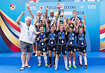 U-9 Cup Final and U-10 Cup Final prize ceremony during the Juniors tournament of the  HKFC Citi Soccer Sevens on 22 May 2016 in the Hong Kong Footbal Club, Hong Kong, China. Photo by Lim Weixiang / Power Sport Images