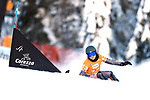 FIS Snowboard World Cup - Covid-19 Outbreak  Parallel Slalom Finals event on 17/12/2020 in Carezza, Italy. In action Carolin Langenhorst (GER)