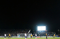 A Drone flies over the top of the pitch during the Fly Emirates FA Cup Fourth Round match between Newport County and Tottenham Hotspur at Rodney Parade, Newport, Wales, UK. Saturday 27 January 2018