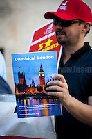 """23.08.2016 - """"Unethical London Launch"""" - Protest at Southbank Premier Inn"""