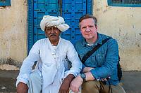 India, Gujarat, Kutch Desert, Bhadroi Village. Man in turban.