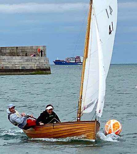 The mixed tapestry of Irish sailing – Olympians Finn Lynch and Annalise Murphy winning a race in Dun Laoghaire in a classic Dublin Bay Water Wag