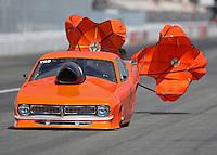 Feb 11, 2017; Pomona, CA, USA; NHRA top sportsman driver Lynsi Snyder-Ellington during the Winternationals at Auto Club Raceway at Pomona. Mandatory Credit: Mark J. Rebilas-USA TODAY Sports