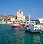 Greece, Central Macedonia, Chalkidiki, Ouranoupoli: a Greek village on the border to the monks republic of Mount Athos - harbour | Griechenland, Zentralmakedonien, Chalkidiki, Ouranoupoli: ein griechisches Dorf an der Grenze zur Moenchsrepublik Athos, Hafen