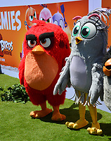 """LOS ANGELES, USA. August 10, 2019: Red & Silver at the premiere of """"The Angry Birds Movie 2"""" at the Regency Village Theatre.<br /> Picture: Paul Smith/Featureflash"""