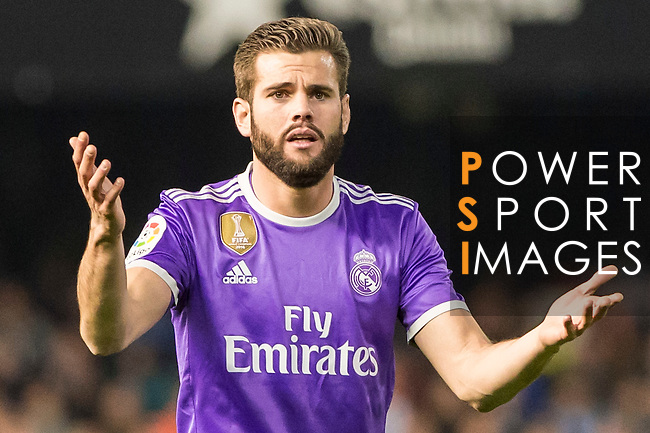 Nacho Fernandez of Real Madrid reacts during their La Liga match between Valencia CF and Real Madrid at the Estadio de Mestalla on 22 February 2017 in Valencia, Spain. Photo by Maria Jose Segovia Carmona / Power Sport Images