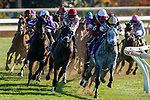 November 7, 2020 : Horses round the corner during the FanDuel Mile presented by PDJF on Breeders' Cup Championship Saturday at Keeneland Race Course in Lexington, Kentucky on November 7, 2020. /Dan Heary/Breeders' Cup/Eclipse Sportswire/CSM