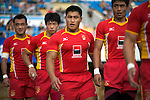 China rugby team in action during the HSBC Asian 7s at the Yuanshen stadium on August 28, 2011 in Shanghai, China. Photo by © Victor Fraile / The Power of Sport Images