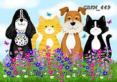 Kate, CUTE ANIMALS, LUSTIGE TIERE, ANIMALITOS DIVERTIDOS, paintings+++++Wild flower pets 2,GBKM449,#ac#, EVERYDAY ,dogs,dog