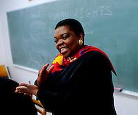 College, professor teaching class