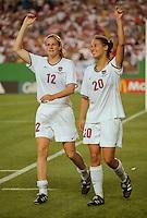 Landover, MD - July 1, 1999: USA vs Germany, Women's World Cup 1999 Quarterfinals. USA 3, Germany 2.
