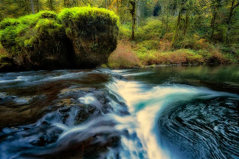 Silver falls creek. Silver Falls State Park, Oregon