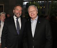 Thomas Mulcair et <br /> Jean-Francois Lisee  au<br /> 13 ieme Gala Phenicia , 25 mai 2017