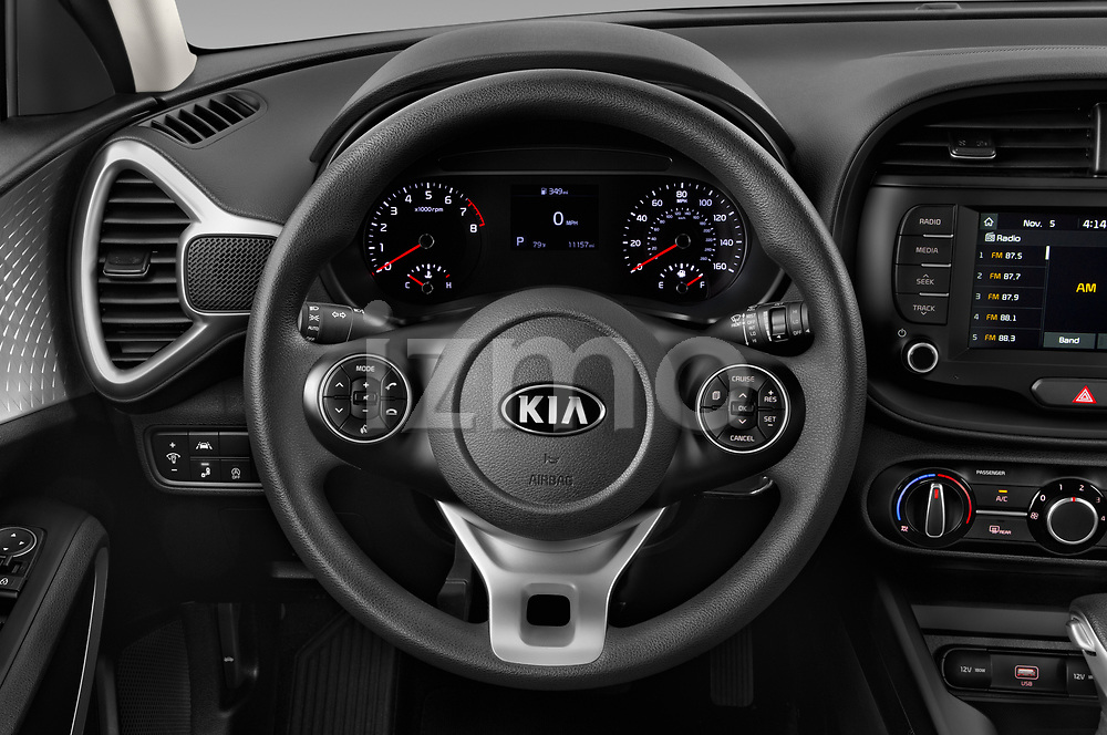 Car pictures of steering wheel view of a 2020 KIA Soul S 5 Door Hatchback Steering Wheel