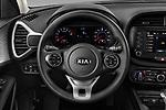 Car pictures of steering wheel view of a 2020 KIA Soul S 5 Door Hatchback Steering Wheel