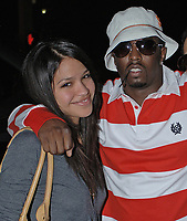"""MIAMI BEACH, FL - SEPTEMBER 6, 2006:  Sean """" Diddy"""" Combs along with his new artist Cassie and friend Young Joc pose at the Power 96 Beakfast with """"P Diddy Live at Club Deep"""". On September 6, 2006 in Miami Beach, Florida.<br /> <br /> People:  Sean """"P-Diddy"""" Combs, Cassie"""