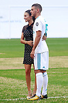 Real Madrid's new player Theo Hernandez with his girlfriend Adriana Pozueco during his official presentation. July 10, 2017. (ALTERPHOTOS/Acero)