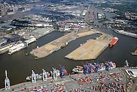 Central Terminal Steinwerder im Hamburger Hafen: EUROPA, DEUTSCHLAND, HAMBURG, (EUROPE, GERMANY), 29.06.2014: Central Terminal Steinwerder im Hamburger Hafen Hamburg, Hafenflaechen werden umgebaut für die Zukunft des Hamburger Hafen,
