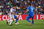 Getafe CF's Jaime Mata and Real Valladolid's Ruben Alcaraz during La Liga match. August 31, 2018. (ALTERPHOTOS/A. Perez Meca)