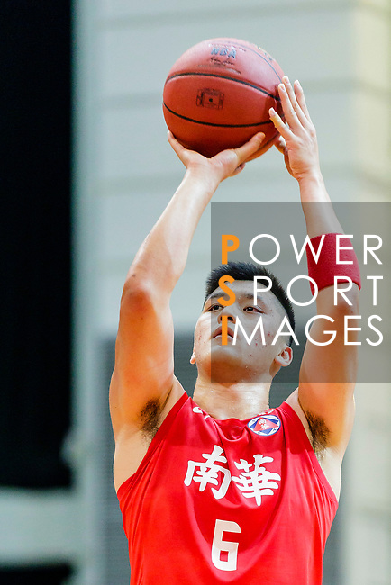 Leung Shiu Wah #6 of SCAA Men's Basketball Team concentrates prior to a free throw during the Hong Kong Basketball League game between Eastern Long Lions and SCAA at Southorn Stadium on May 29, 2018 in Hong Kong. Photo by Yu Chun Christopher Wong / Power Sport Images
