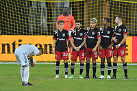 WASHINGTON, DC - SEPTEMBER 27: Gustavo Bou #7 of New England Revolution getting ready for a free kick during a game between New England Revolution and D.C. United at Audi Field on September 27, 2020 in Washington, DC.