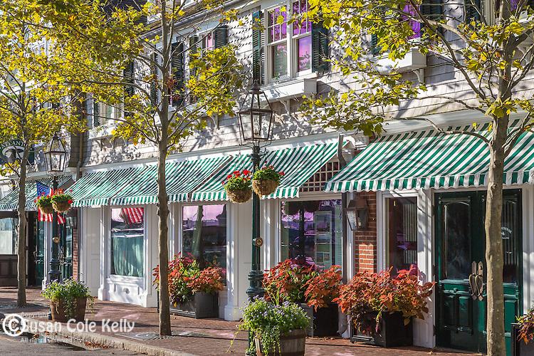 Downtown Edgartown, Marthas Vineyard, Massachusetts, USA