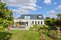 BNPS.co.uk (01202 558833)<br /> Pic: Mullucks/BNPS<br /> <br /> Back after.<br /> <br /> A retired couple dubbed 'the accidental upsizers' have put their luxury home on the market for a whopping £750,000.<br /> <br /> Jean and Desmond Lawton bought a suburban bungalow three years ago as they looked to downsize from a large property.<br /> <br /> But they soon decided that they didn't like the dated decour of the humble home and transformed it beyond recognition.<br /> <br /> They knocked down every internal retaining wall bar one to create an open-plan space and built a single-storey extension to the rear.