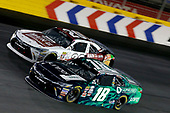 NASCAR XFINITY Series<br /> Drive for the Cure 300<br /> Charlotte Motor Speedway, Concord, NC<br /> Saturday 7 October 2017<br /> Daniel Suarez, Juniper Toyota Camry Erik Jones, Main Street Bistro Toyota Camry<br /> World Copyright: Matthew T. Thacker<br /> LAT Images