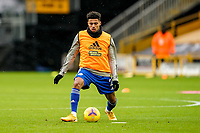 7th February 2021; Molineux Stadium, Wolverhampton, West Midlands, England; English Premier League Football, Wolverhampton Wanderers versus Leicester City; James Justin of Leicester City warms-up prior to the match