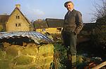 Great Tew Oxfordshire 1986. Framers, Jim Tustian Leys Farm