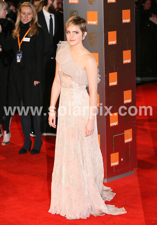 **ALL ROUND PICTURES FROM SOLARPIX.COM**                                             **WORLDWIDE SYNDICATION RIGHTS**                                                                                  Arrivals to the Orange British Academy Film Awards held at The Royal Opera House on February 13, 2011 in London                                                                          .This pic:    Emma Watson                                                                                          JOB REF:   12788     LNJ       DATE:   13.02.11                                                         **MUST CREDIT SOLARPIX.COM OR DOUBLE FEE WILL BE CHARGED**                                                                      **MUST AGREE FEE BEFORE ONLINE USAGE**                               **CALL US ON: +34 952 811 768 or LOW RATE FROM UK 0844 617 7637**