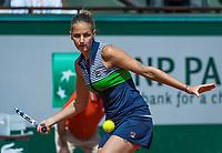 Paris, France, 7 June, 2017, Tennis, French Open, Roland Garros, Karolina Pliskova (CZE)<br /> Photo: Henk Koster/tennisimages.com