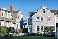 Charming homes in Nantucket town, Massachusetts, USA.
