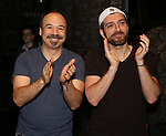 """Danny Burstein and Tam Mutu during the Broadway Opening Night Legacy Robe Ceremony honoring Bahiyah Hibah for  """"Moulin Rouge! The Musical"""" at the Al Hirschfeld Theatre on July 25,2019 in New York City."""