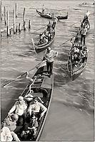 A flotilla of gondolas