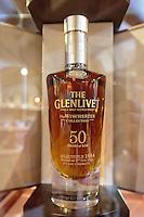 a 50 year old whiskey in a display case in the Glenlivet whiskey distillery salesroom near Ballindalloch, Scotland on 2015/06/08. Foto EXPA/ JFK/Insidefoto