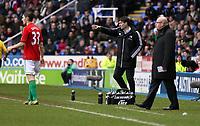 Wednesday 26 December 2012<br /> Pictured: (L-R) Ben Davies, Michael Laudrup, Brian McDermott.<br /> Re: Barclays Premier League, Reading v Swansea City FC at the Madejski Stadium, Reading, Berkshire.