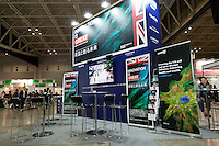 OCTOBER 15, 2014 -TOKYO, JAPAN:  The Uk stand at the Bio-city conference in Yokohama, Japan 14th October, 2015. (photo by Ko Sasaki- Sinopx)