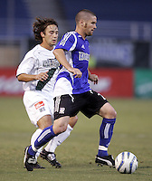 24 August 2005: Wade Barrett of the Earthquakes in action against the Galaxy during Open Cup at Spartan Stadium in San Jose, California.   Galaxy is leading Earthquakes, 2-0 at halftime.