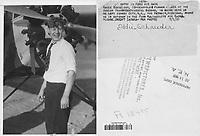 Eddie August Schneider on July 1, 1931 in Jersey City, New Jersey on way to Detroit, Michigan