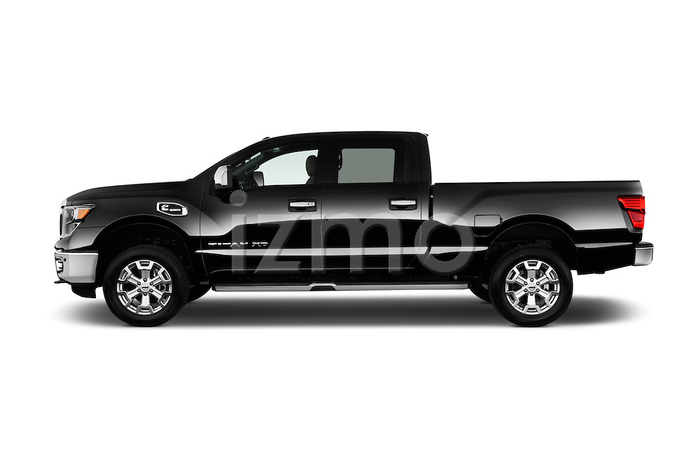 Car Driver side profile view of a 2016 Nissan Titan SL 4 Door Pickup Side View