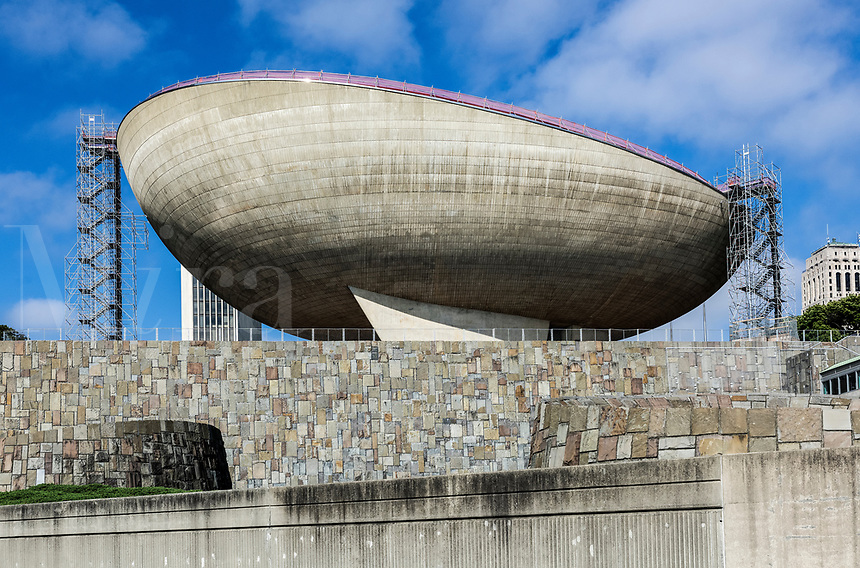 The Egg performing arts center designed by Wallace Harrison, Albany, New York, USA.