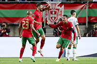 1st September 2021; Faro, Algarve, Portugal:  Portugals Cristiano Ronaldo celebrates after scoring his goal during the FIFA World Cup 2022 European qualifying round group A football match between Portugal and Ireland in Faro, Portugal